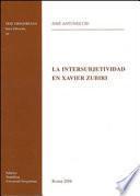 La intersubjectividad en Xavier Zubiri