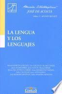 La lengua y los lenguajes