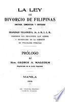 La ley de divorcio de Filipinas