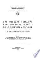 La Ley Sáenz Peña. Cómo se aplica en el lapso 1912-1930. Cómo se aplica en el lapso 1931-1943. Las fuerzas armadas restituyen el imperio de la soberanía popular