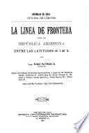 La linea de frontera con la República Arjentina entre las latitudes 35 i 46 S