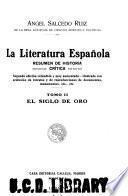 La literatura española: El siglo de oro