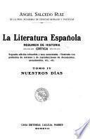 La literatura española: Nuestros días