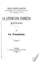 La literatura francesa moderna: La transición