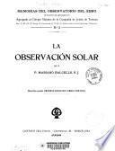 La observación solar