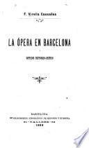 La ópera en Barcelona