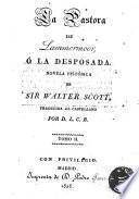 La pastora de Lammermoor ó la desposada novela histórica