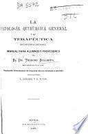 La patología patológica quirúrgica general y su terapéutica en cincuenta lecciones