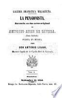 La pensionista zarzuela en 2 actos puesta en Musica por Antonio Lujan