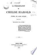 La peregrinación de Childe Harold