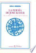 La poesía de José Kozer