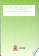 La presunción de inocencia en la jurisprudencia del Tribunal Constitucional