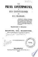 La Prusia contemporánea y sus instituciones