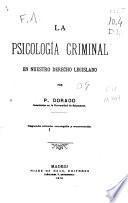 La psicología criminal en nuestro derecho legislado