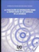 La publicación de información sobre la repercusión de las empresas en la sociedad