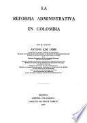 La reforma administrativa en Colombia