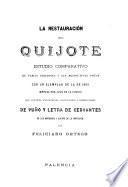 La restauración del Quijote