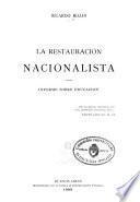 La restauración nacionalista