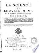 La Science du gouvernement ...