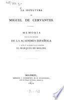 La sepultura de Miguel de Cervántes