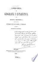 La Sociedad mexicana de geografía y estadística