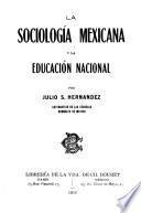 La sociología mexicana y la educación nacional