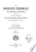 La sovranità temporale des Romani Pontifici propugnata