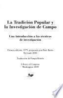 La tradicion popular y la investigacion de campo