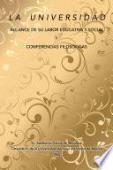 La Universidad Alcance De Su Labor Educativa Y Social Y Conferencias Filosóficas
