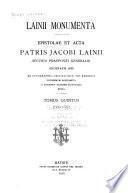 Lainii monumenta: 1560-1561