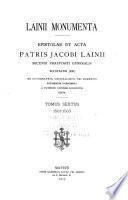Lainii monumenta: 1561-1563