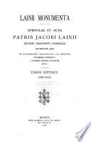Lainii monumenta: 1563-1564