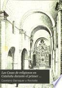 Las casas de religiosos en Cataluña durante el primer tercio del siglo XIX