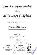 Las cien mejores poesías (liricas) de la lengua inglesa