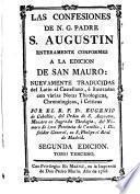 Las confesiones de A. G. Padre S. Augustin