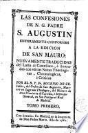 Las Confesiones de N.G. Padre S. Augustin, 1