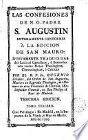 Las Confesiones de N. G. Padre S. Augustín enteramente conformes a la edición de San Mauro, 3