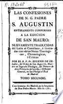 Las confesiones de N. G. Padre S. Augustin