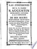 Las confesiones de N.G. Padre S. Augustin ; tomo I