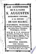 Las Confesiones de N. G. Padre San Agustín enteramente conformes a la edición de San Mauro ..., 3