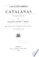 Las costumbres catalanas en tiempo de Juan I.