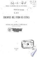 Las ediciones del Fuero de Cuenca