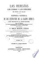 Las heregías, los cismas y los errores de todos los siglos, 2
