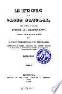 Las leyes civiles en su orden natural