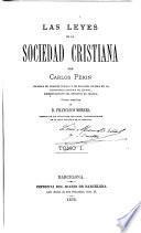 Las leyes de la sociedad cristiana
