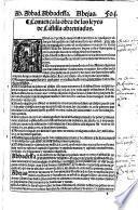 Las leyes de todos los reynos de Castilla abreuiadas y reduzidas en forma de Reportorio decisiuo por la orden del A.B.C.
