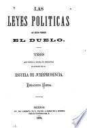 Las leyes políticas no deben prohibir el duelo