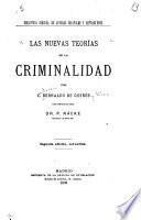 Las nuevas teorías de la criminalidad