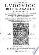 Las Obras de Ludouico Blosio ...