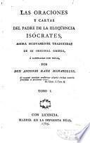 Las Oraciones y cartas del padre de la eloqüencia Isócrates